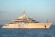 1. Eclipse  Length: 533 feet   Top speed: 25 knots   Total power: N/A   With a reported price tag of nearly 1.2 billion, the Eclipse is not only the largest yacht, but also the most expensive. The Eclipse was delivered in 2010 to Russian business tycoon Roman Abramovich, who is known worldwide for his opulent spending on everything from super yachts to England's Chelsea Football Club.   The Eclipse has two helicopter pads, 11 guest cabins, two swimming pools, exterior fireplace and a dance…