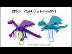 Dragon Paper Clip Bookmark Craft - YouTube