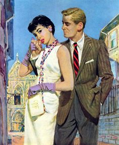 1955 The Lady Had an Angle - Saturday Evening Post Leading Ladies, August 20 Coby Whitmore