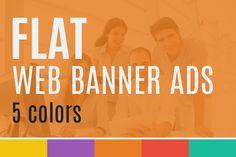 Flat Web Banner Ads by EngoCreative.com on @creativemarket
