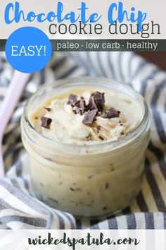 Paleo Edible Chocolate Chip Cookie Dough - 5 minutes is all you need! Healthy Chocolate Desserts, Paleo Chocolate, Chocolate Chip Cookie Dough, Best Gluten Free Recipes, Gluten Free Recipes For Dinner, Paleo Recipes Easy, Paleo Dessert, Dessert Recipes, Paleo Dairy