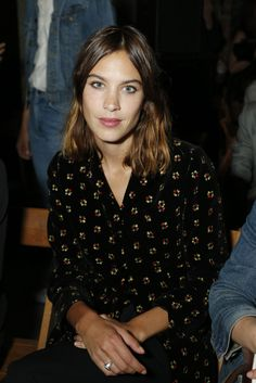 alexachungdirectory: Alexa Chung attends the Opening Ceremony Spring/Summer 2016 fashion show during New York Fashion Week on September 13,...
