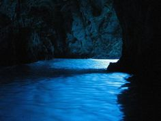 BLUE CAVE OF BISEVO  An ethereal glowing blue ocean cave in Croatia