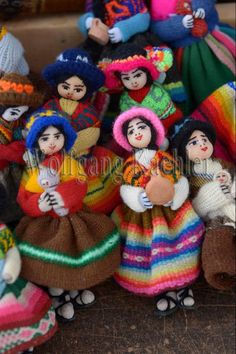 https://flic.kr/p/dwSu5j   60065939   Street scene with souvenir dolls made out of colorful woven fabrics for sale in Humahuaca, a city in the valley of Quebrada de Humahuaca, Andes Mountains near Purmamarca, Jujuy Province, Argentina