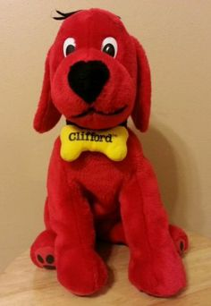 """Kohls Cares For Kids 12"""" Clifford the Big Red Dog 2003 Plush Stuffed Toy"""