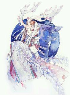 Ref.: Reindeer priestess Pts.: Detail, painterly, color