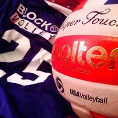 #6 USAVolleyball Logo w/ Mizuno Jersey