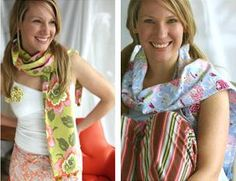Amy Butler Design: cozy scarf pattern. Made with flannel. Yummy warm!
