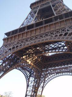 La Tour Eiffel, it feels wonderful to be under it... So immense...