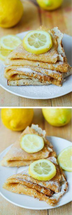 Lemon Sugar Dessert Crepes - easy-to-make and so delicious! YUM