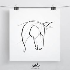 Equine With One Line is an ongoing series that artist Dane Khy has been working on for the past year. The inspiration for his equestrian work stemmed from his country-living lifestyle where he and his wife reside on a horse farm. This piece was created using a single stroke with a brush