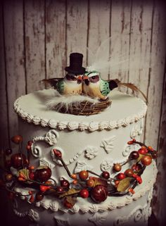 torte nuziali autunnali vintage