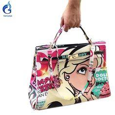 High capacity Graffiti Custom beautiful girl art handbag