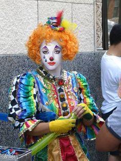 Rainbow Color Creative Art Clown