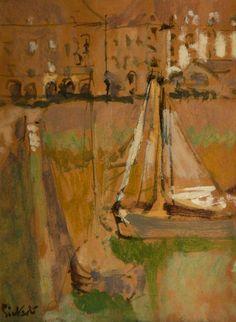 Dieppe Harbour, France  -  Walter Richard Sickert  British 1860-1942