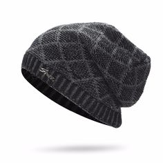bac142c3 2017 Hot Sale Fashion Hat Winter Warm Hat For Man Skullies Beanies Solid Knitted  Hat Warm Cap Men Beanies Cap Wholesale linggeTC
