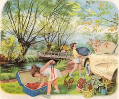 Tini Berkemah (Martine fait du camping) (this sunday child) Tags: vintage children storybook martine bookscan marcelmarlier Marcel, Sweet Drawings, Art Drawings, Vintage Children's Books, Vintage Art, Sundays Child, Illustration Photo, Vintage Fairies, World Best Photos