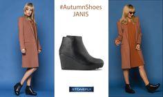 Ankle boot realizzato in pelle con inserto stampato pitone sul tallone, zeppa 80 mm. Il comfort è garantito da blusoft, l'esclusiva goccia in gel che ti permette di camminare con leggerezza, morbidezza e senza fatica. Taglie dal 35 al 41. >> http://www.stonefly.it/it/2/collezione/donna/491/janis-8.html