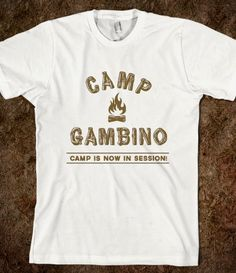 CAMP GAMBINO. childish gambino.