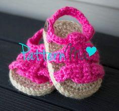 free baby sandal crochet pattern | Crochet Baby Pattern Sandals