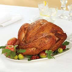 Smoked Chardonnay Turkey - Infused with chardonnay and generously rubbed with herbs, this turkey is smoked to tender and juicy perfection.