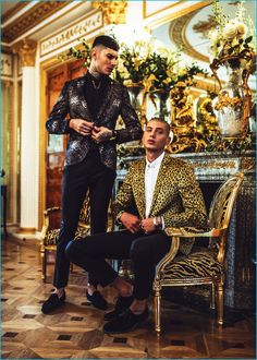 Savio de Chiara and Francesco Cuizza make quite the statement in printed jackets…