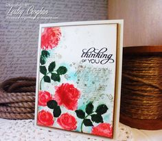 Handmade card by Lesley Croghan using a sentiment from the Kind Words set from Verve. #vervestamps