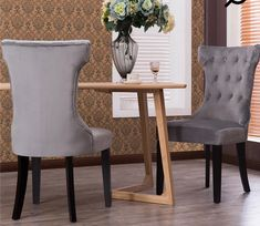 NEW Premium Dining Chair Accent Living Room Armless Side Chairs (Set of Gray Side Chairs, Dining Chairs, Dining Decor, Dining Table, Kitchen Dining, Dining Room, Dining Area, Household Cleaning Supplies, Living Room Accents