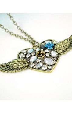 Heart & Wing Necklace - SilkFred