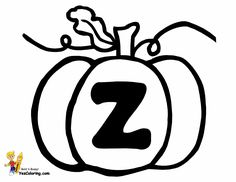 Pumpkin Letter Z Holiday Alphabet Coloring Page At YesColoring Use For