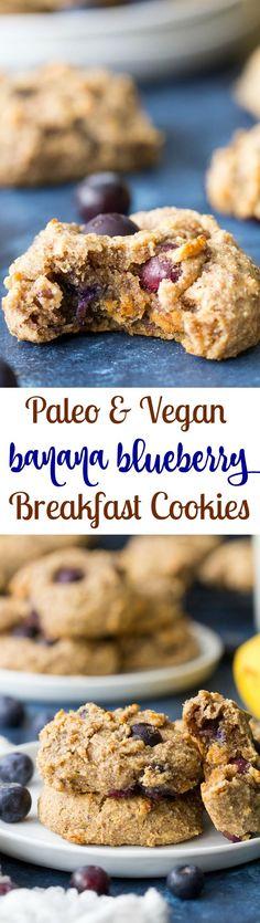 Banana Blueberry Breakfast Cookies #justeatrealfood #paleorunningmomma