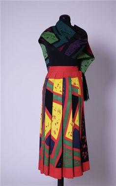 Marimekko, Caramba skirt, 1951 1950s Fashion, Vintage Fashion, Marimekko, Pucci, Finland, Color Schemes, Vintage Outfits, Designers, Printing