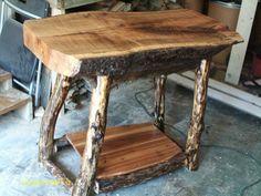 Log Furniture | Handmade Rustic & Log Furniture: Oak Log Kitchen Island