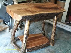 Log Furniture | Handmade Rustic & Log Furniture: Oak Log Kitchen Island