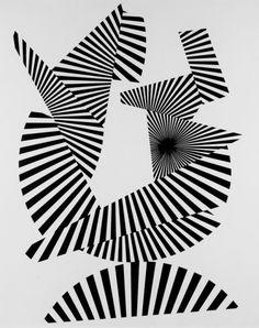 Franco Grignani, M & L Fine Art, London, June 1 – July 28, 2017  / image: Franco Grignani, Frammentazione Radiale, 1964 /