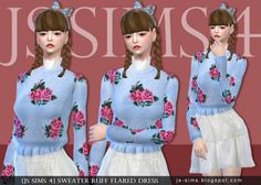 JS Sims 4: Sweater Ruff Flared Dress • Sims 4 Downloads