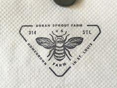 Stamp on gas station napkin designed by Mary Frances Foster. N Logo Design, Branding Design, Graphic Design, Vintage Bee, Farm Logo, Dog Logo, Logo Stamp, Animal Logo, Monogram Logo