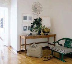 foyer.  nate berkus --  Interior Designers' personal style vs. fashion sense