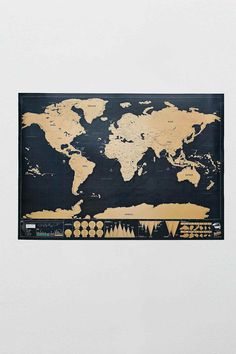 Deluxe Scratch Map, Urban Oufitters. Track where in the world you've been.