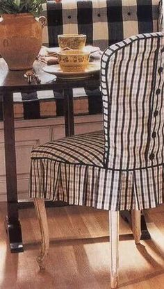Slipcovers are an easy, inexpensive way to refresh the look of furnishings and transform the style of a room. Decorating with slipcover. Slipcovers For Chairs, Chair Covers, Room Chairs, Office Chairs, Club Chairs, Kitchen Chairs, White Decor, Soft Furnishings, Diy Furniture