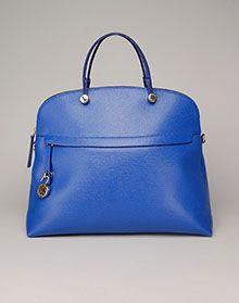 BRIGHT BLUE! Furla Piper Dome Satchel