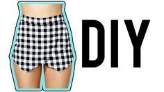 DIY Asymmetrical Skirt.Skort! | Make Thrift Buy #15