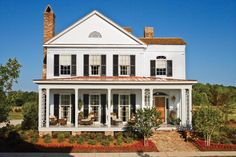 The Taylor Creek plan is a perfect example of a Southern home