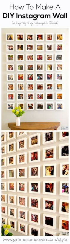 The best DIY projects & DIY ideas and tutorials: sewing, paper craft, DIY... Diy Crafts Ideas A step-by-step tutorial for how to turn your favorite Instagram photos into an Instagram Wall! gimmesomeoven.com/style #diy -Read More -
