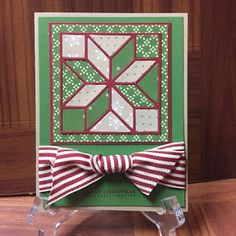 Quilted Christmas bundle card