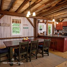 West Michigan Stays' Silver Star Cottage is a newly built, three-bedroom vacation home with luxury amenities (including a heated pool) and a shared lakefront on Silver Lake.