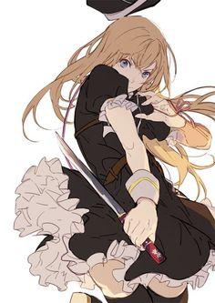 Anime girl   woah! Okay put the SHARP knife down