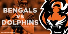 Dolphins vs Bengals watch live