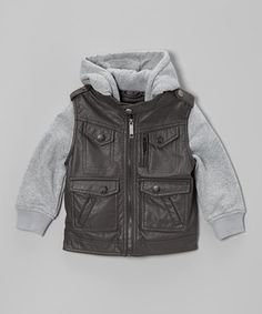 Look what I found on #zulily! Charcoal Four-Pocket Zip-Up Jacket - Infant, Toddler & Boys by Urban Republic #zulilyfinds