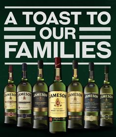 A toast to our families; they taught us the value of a good toast, a great whiskey and even better friends. Share if you agree.